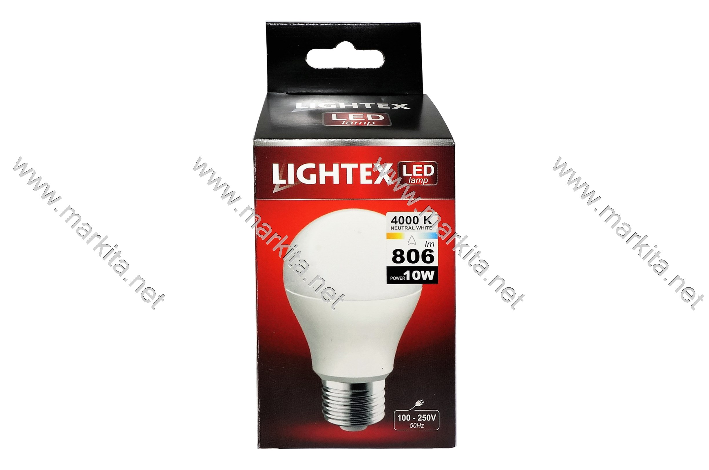 Лампа Led Plastic 10w 4000K E27 Lightex