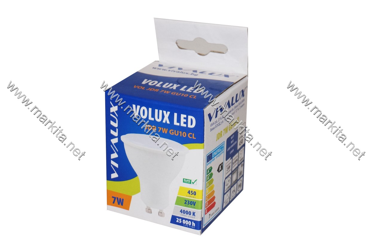 Крушка LED VOL JDR 7W GU10 W 4000K Volux Вива 4171