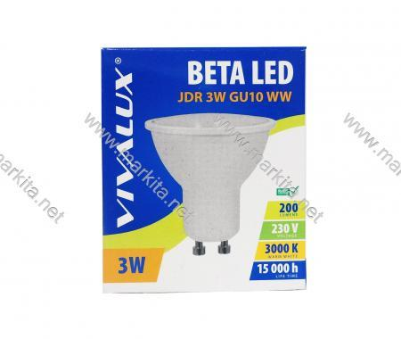 Крушка LED BETA JDR 3w GU10 WW 3000K Вива