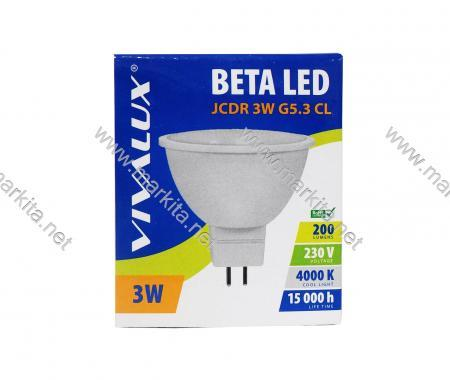 Крушка LED Beta JCDR 3w G5.3 CL 4000K Вива