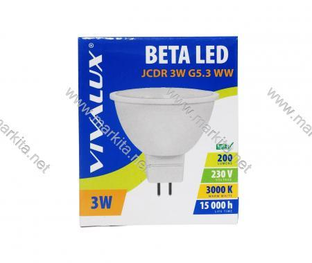 Крушка LED Beta JCDR 3w G5.3 WW 3000K Вива
