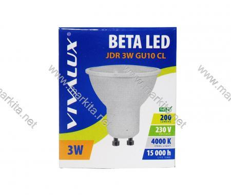 Крушка LED Beta JDR 3w GU10 CL 4000K Вива