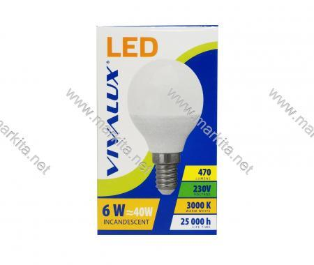 Крушка LED CAMEO GCL 6W E14 WW 3000K Вива