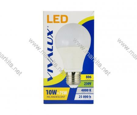 Крушка LED LARGO LGL 10w E27 CL-4000K Вива