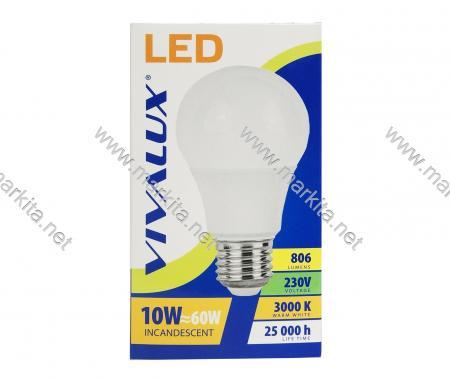 Крушка LED LARGO LGL 10w E27 WW-3000K Вива