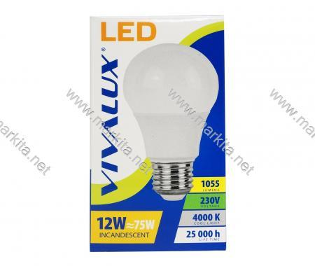 Крушка LED LARGO LGL 12w E27 CL 4000K Вива