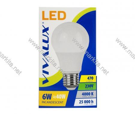 Крушка LED LARGO LGL 6w E27 CL-4000K Вива