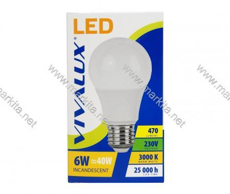 Крушка LED LARGO LGL 6w E27 WW-3000K Вива