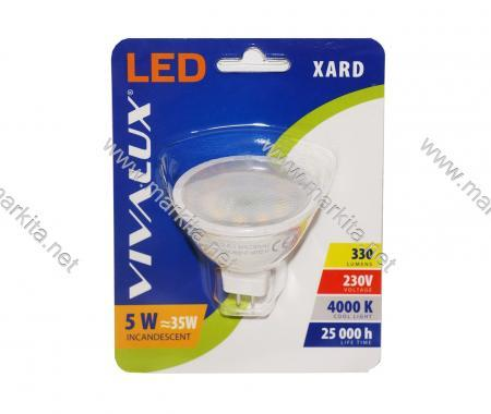 Крушка LED XL JCDR 5w G5.3 CL 4000K Вива