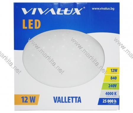 Плафониера Led 12W 230V Valletta CL4000К Вива 3917