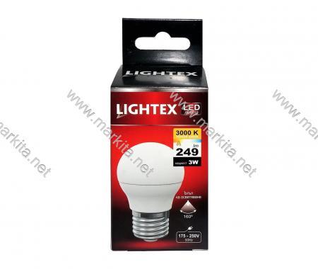 Лампа Led Plastic 3w P45 WW 3000K Lightex