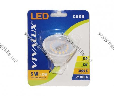 Крушка LED XL MR16 5W G5.3 12V 3000K Вива 3345