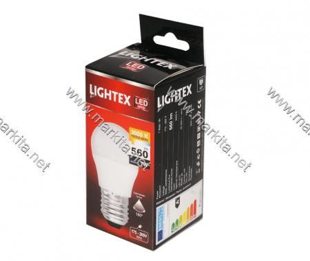 Лампа Led Plastic 7w 3000K E27 P45 Lightex 434