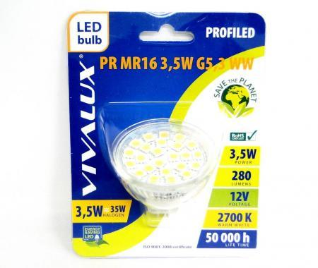 Крушка LED PR MR16 3.5w G5.3 2700K Вива