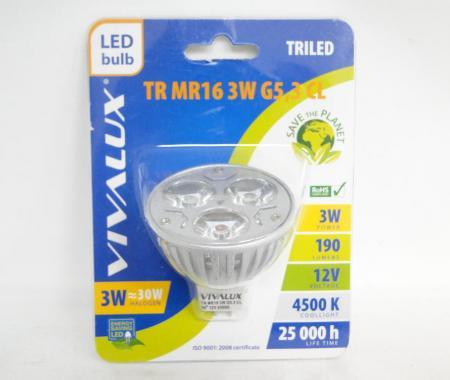 Крушка LED TR MR16 3w G5.3 Вива